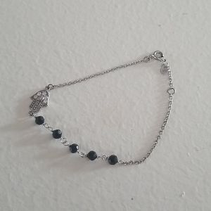 Sterling Silver Om Bracelet